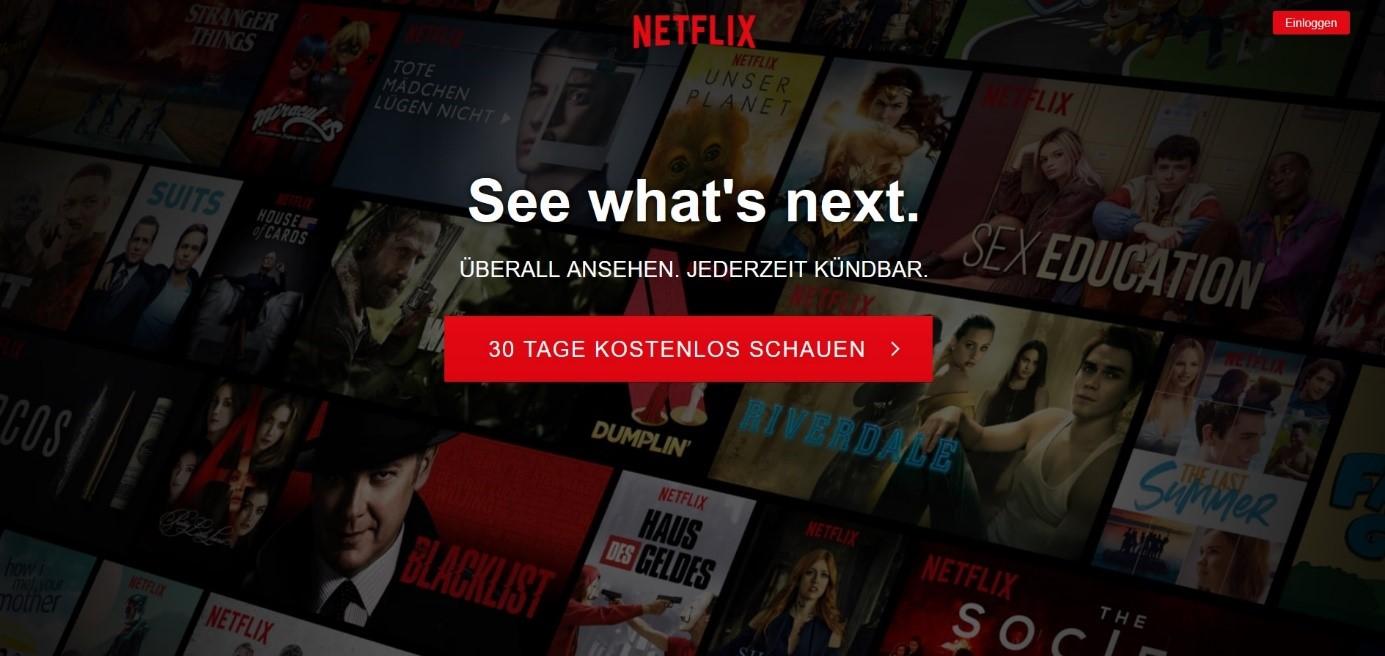 Call to Action Netflix Beispiel