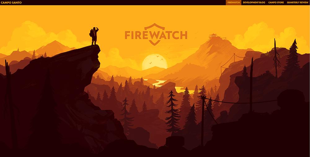 Firewatch Parallax Scrolling Webdesign