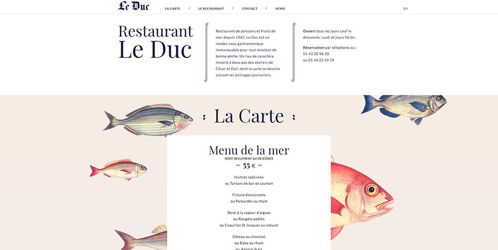 Fisch Parallax Effekt Webdesign