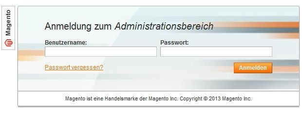 Magento Backend Login