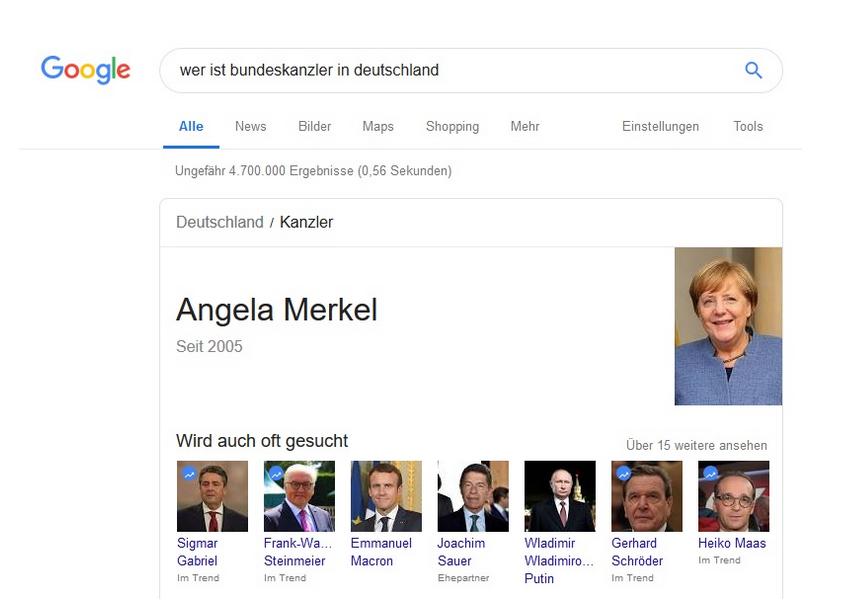 semantische suche merkel Google