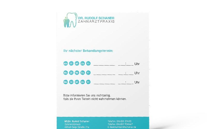 Terminzettel Zahnarzt